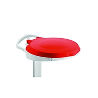 Plastic Round Lid For Smile Red