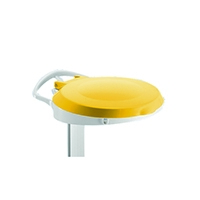 Plastic Round Lid / Smile Yellow