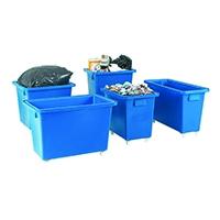Swivel Blue 790X470X550mm Bottle Skip