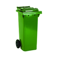 Green 2 Wheel Refuse Container 80 Ltr