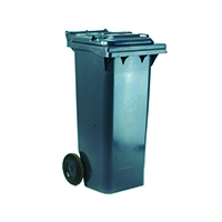 Grey 2 Wheel Refuse Container 80 Ltr