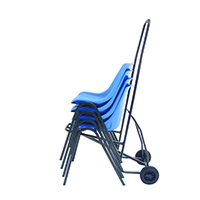 Black Wheeled Chair Moving Trolley