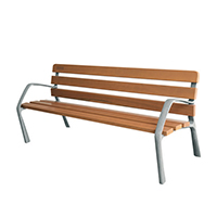 Wooden Bench with Cast Iron Legs