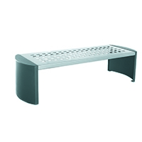 Cast Iron Backless Bench Silver/Black