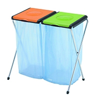 Orange/Green Rcycl Bin Sack Holder 2-Prt