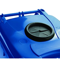Blue Wheelie Bin 140L /Bottle Lid Lock