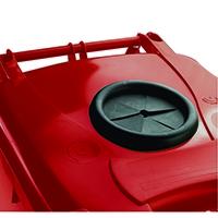 Red Wheelie Bin 120L /Bottle Lid Lock