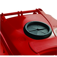 Red Wheelie Bin 140L /Bottle Lid Lock