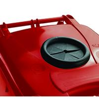 Red Wheelie Bin 360L /Bottle Lid Lock