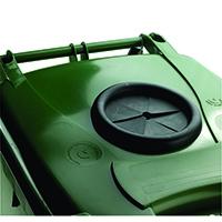 Green Wheelie Bin 120L /Bottle Lid Lock