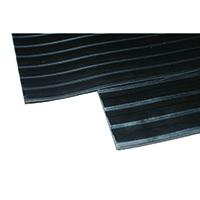 Black Broad 3mm 900x1000mm Ribbed Mat