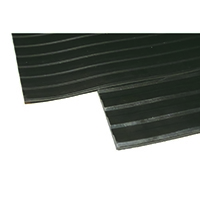 Black Broad 3mm 1200mm Ribbed Matting