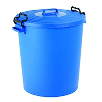 Blue Light Duty Dustbin with Lid 110Ltr