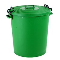 Light Duty Green Dustbin and Lid 110Ltr