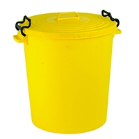 Yellow Light Duty Dustbin and Lid 110Ltr