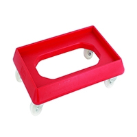 Red Plastic Dolly For 600X400 Container