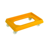 Yellow Plstc Dolly For 600X400 Container