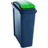 VFM Green Recycling Bin With Lid 25L
