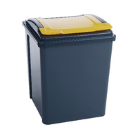 Vfm Grey/Yellow Recycling Bin/Lid Yellow