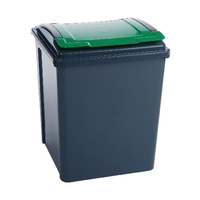 VFM Grey/Green 50L Recycling Bin/Lid