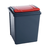 VFM Recycling Bin / Lid Red 50L