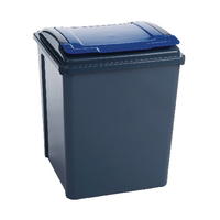 Vfm Grey/Blue Recycling Bin/Lid 384290