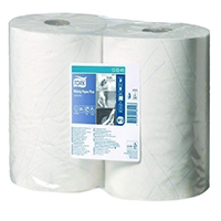 Tork White Wiping Paper Plus Pk2