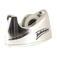 Sellotape Bench Chrome Small Dispenser
