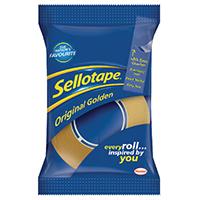 Sellotape Golden 18mm/33M Tape Pk8