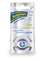 Sellotape 18mmx25m Super Clear Tape Pk8