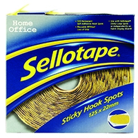 Sellotape Sticky Hook 125x22 Spots Pk125