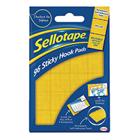 Sellotape Sticky Hook Pads Pk96