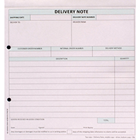 Custom Forms 3 Part Delivery Note Pk50