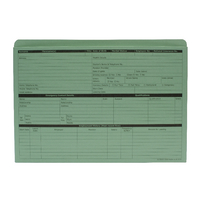 Custom Forms Personnel Wallet Green Pk50