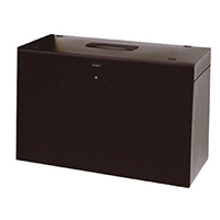 Cathedral Black A4 Metal File Box