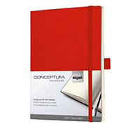 Sigel Red 135x210mm Notebook CO228