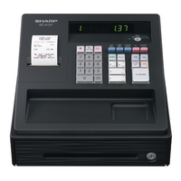 Sharp Cash Register Black