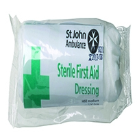 St John Ambulance 120 x 120mm Dressing