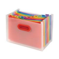 Snopake Rainbow 13Part Desk Expander A4