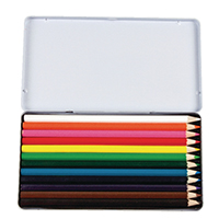 Coloured Pencil Crayons Asstd Tin Pk12