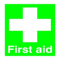 First Aid 100x250mm PVC Sign