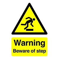 Warning Beware of Step A5 Self-Adh Sign