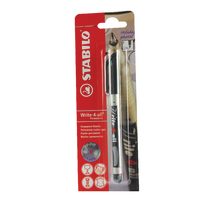 Stabilo Write-4-All Blk 0.7 Marker Pk10