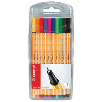 Stabilo Point 88 Fineliner Pen Pk10 Astd