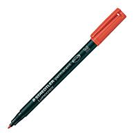 Staedtler Lumo Red Med Tip OHP Perm Pk10