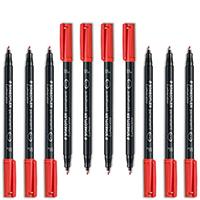 Staedtler Lumoclor Red Perm OHP Pen Pk10