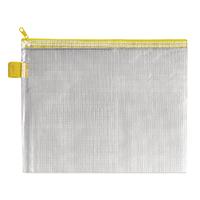 BDS Yellow Zip Pouch 255x205mm Pk5