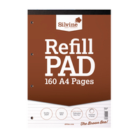 Silvine Refill A4 Pad Punched 4 Hole Pk6
