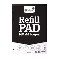 Silvine Refill A4 Pad 80Leaf Plain Pk6