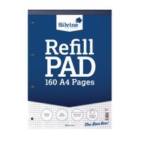 Silvine Refill A4 Pad 80Lf 5mm Sqre Pk6